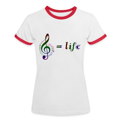 Music = life - Frauen Kontrast-T-Shirt