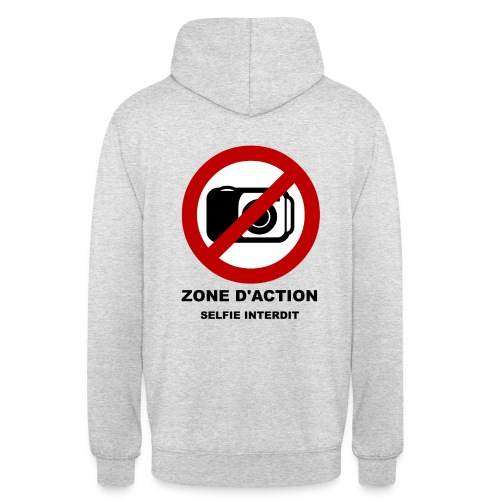 Zone d'Action - Sweat-shirt à capuche unisexe