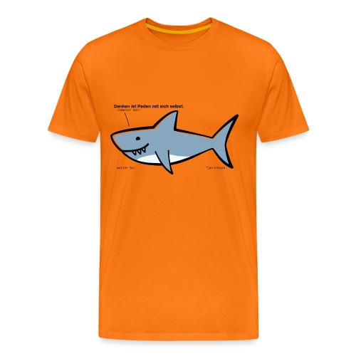 Weiser Hai - Männer Premium T-Shirt