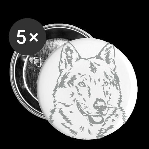 tschechoslowakischer Wolfhund - Buttons mittel 32 mm (5er Pack)
