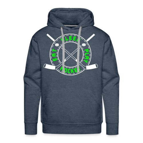 Eat, Sleep, Play Hockey Men's Hoodie - Men's Premium Hoodie
