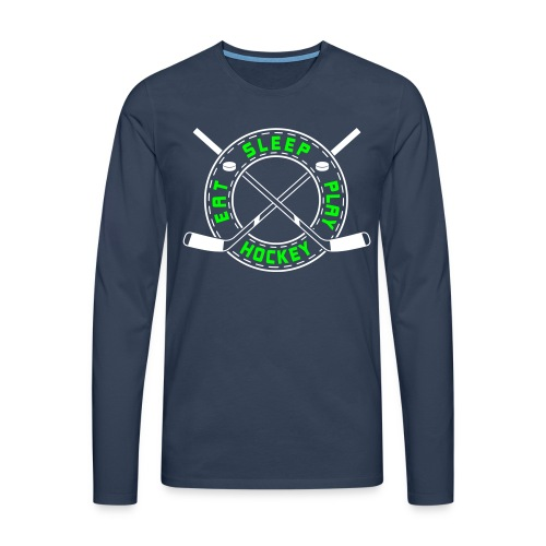 Eat, Sleep, Play Hockey Men's Long Sleeve - Men's Premium Longsleeve Shirt