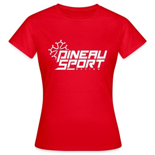 PSR Logo Tee Rouge - T-shirt Femme