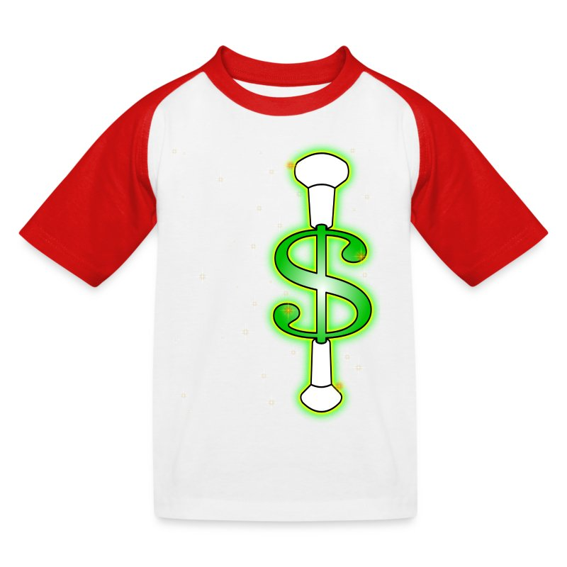 Baton Twirling Dollar   - Kids' Baseball T-Shirt