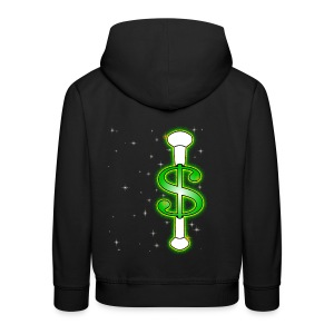 Baton Twirling Dollar Sparkles - Kids' Premium Hoodie