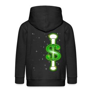 Baton Twirling Dollar Sparkles - Kids' Premium Zip Hoodie