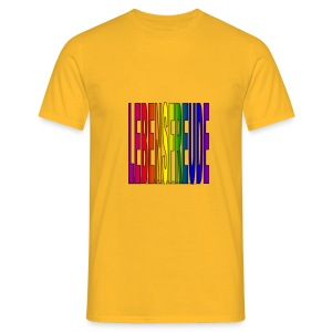 lebensfreude regenbogenfarben T-Shirts - Männer T-Shirt