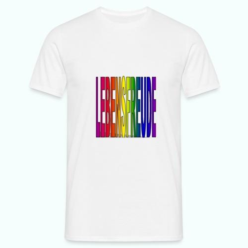 lebensfreude regenbogenfarben T-Shirts - Men's T-Shirt