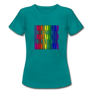 lebensfreude regenbogenfarben T-Shirts - Frauen T-Shirt