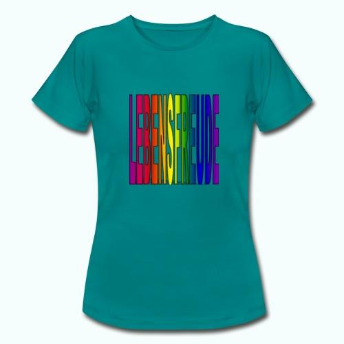 lebensfreude regenbogenfarben T-Shirts - Women's T-Shirt