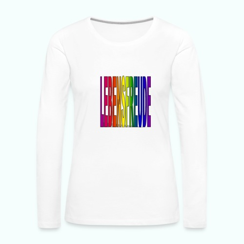 lebensfreude regenbogenfarben Langarmshirts - Women's Premium Longsleeve Shirt