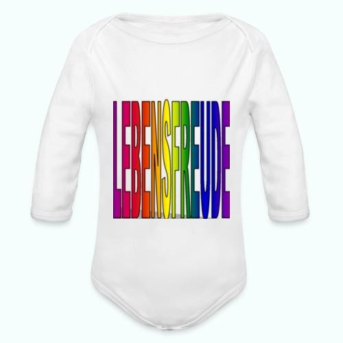 lebensfreude regenbogenfarben Baby Bodys - Organic Longsleeve Baby Bodysuit