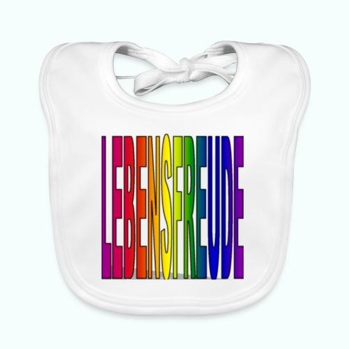 lebensfreude regenbogenfarben Baby Lätzchen - Baby Organic Bib