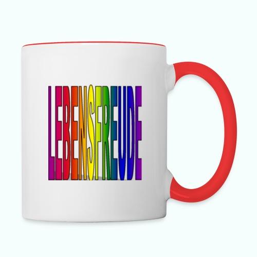 lebensfreude regenbogenfarben Tassen & Zubehör - Contrasting Mug