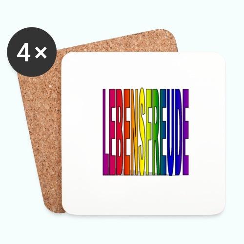 lebensfreude regenbogenfarben Tassen & Zubehör - Coasters (set of 4)