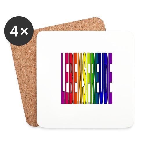 lebensfreude regenbogenfarben Tassen & Zubehör - Untersetzer (4er-Set)