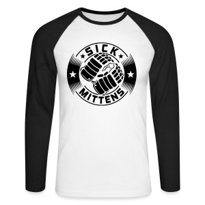Sick Mittens Men's Baseball Shirt - Men's Long Sleeve Baseball T-Shirt