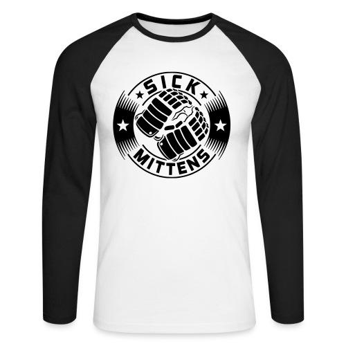 Sick Mittens Men's Baseball Shirt - Men's Long Sleeve Baseball T-Shirt