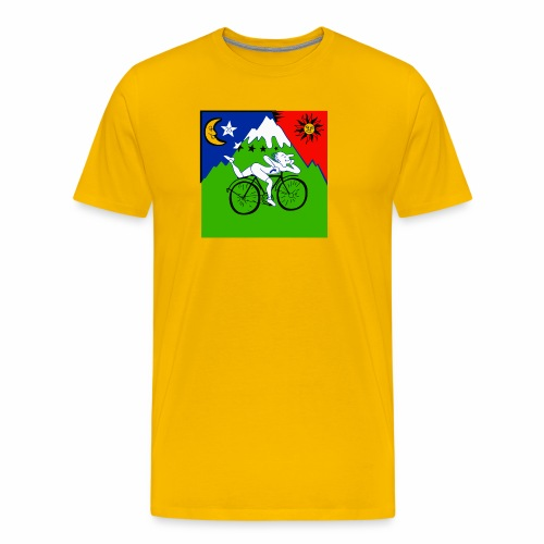 Bicycle Day Yellow - Men's Premium T-Shirt