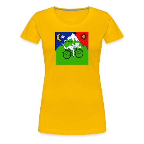 Bicycle Day Yellow Girls - Women's Premium T-Shirt