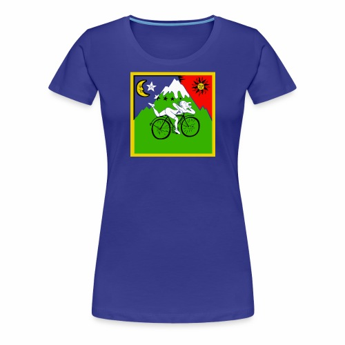 Bicycle Day Blue Girls - Women's Premium T-Shirt