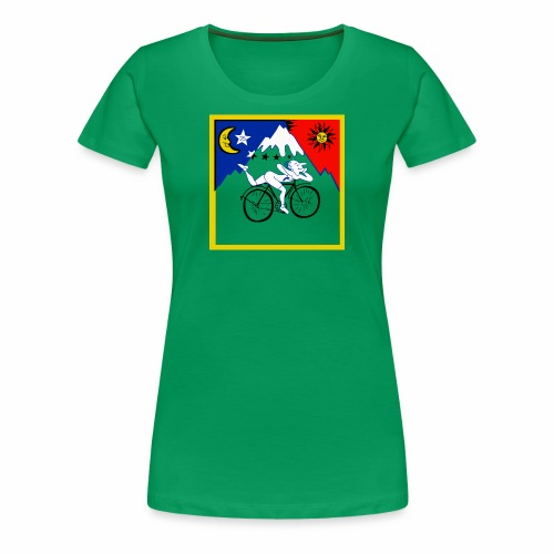 Bicycle Day Green Girls - Women's Premium T-Shirt