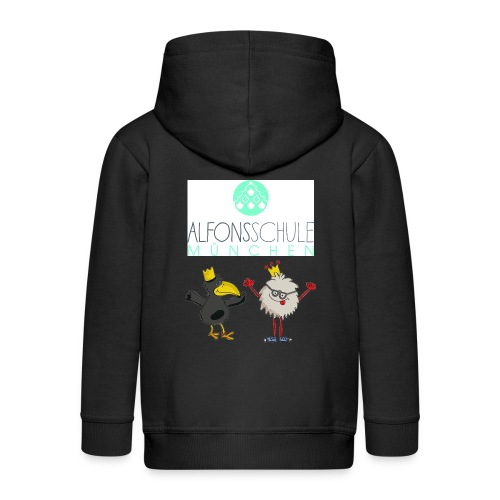 Hoody 2 Logos - Kinder Premium Kapuzenjacke