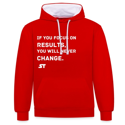 Change will cause Results - Kontrast-Hoodie