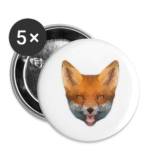 Low Poly Fox Button - Buttons mittel 32 mm