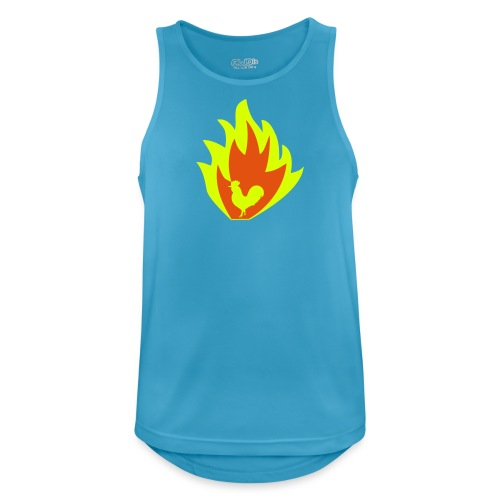 ROOSTER OF FIRE - Men's Breathable Tank Top