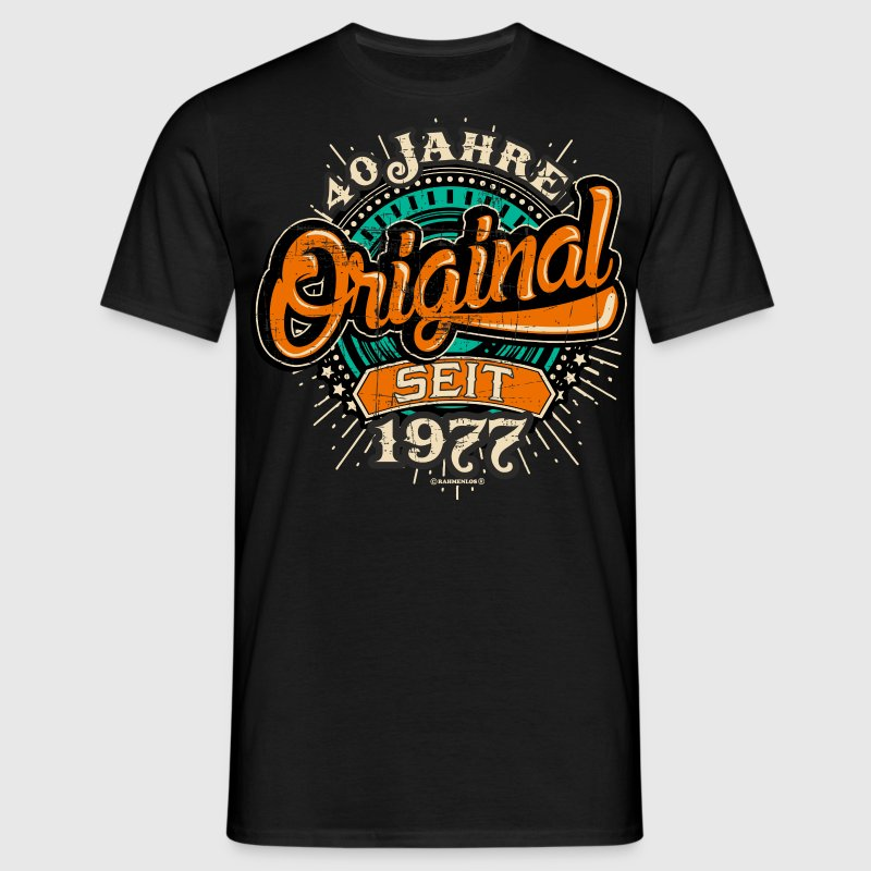 Original 40 orange geburtstags geschenk rahmenlos for Original t shirt designs