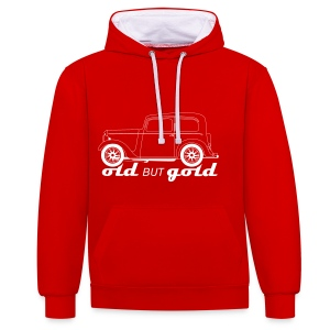 old but gold - Contrast Colour Hoodie