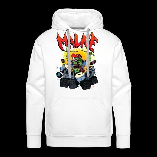 Malke - Hoody - Monster - White - Sudadera con capucha premium para hombre