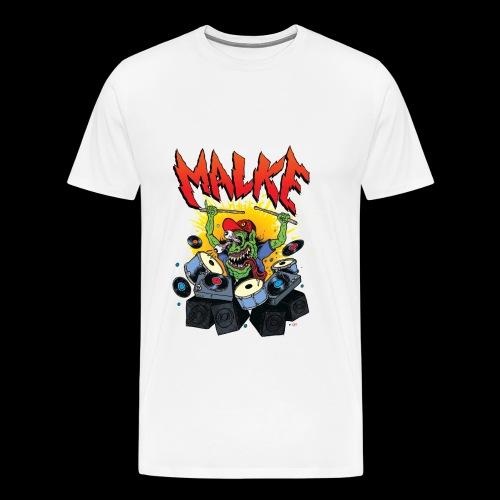 Malke - Premium - Monster - White - Camiseta premium hombre