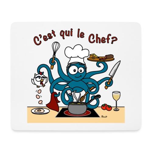 Tapis de souris Poulpe Cuistot C'est qui le Chef? - Tapis de souris (format paysage)