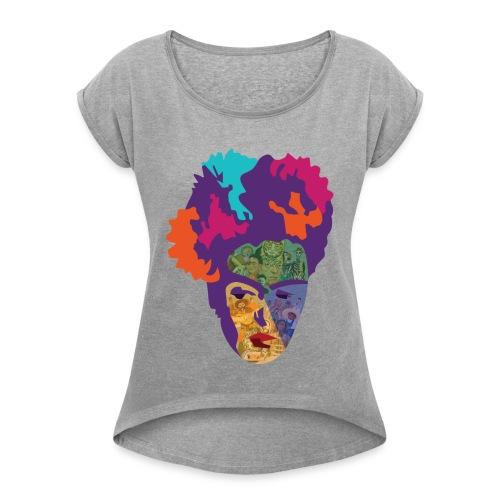 FRIDA - T-shirt à manches retroussées Femme