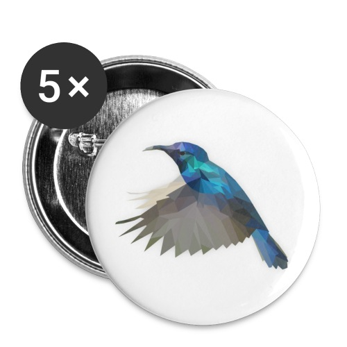 Low Poly Kolibri Buttons - Buttons groß 56 mm