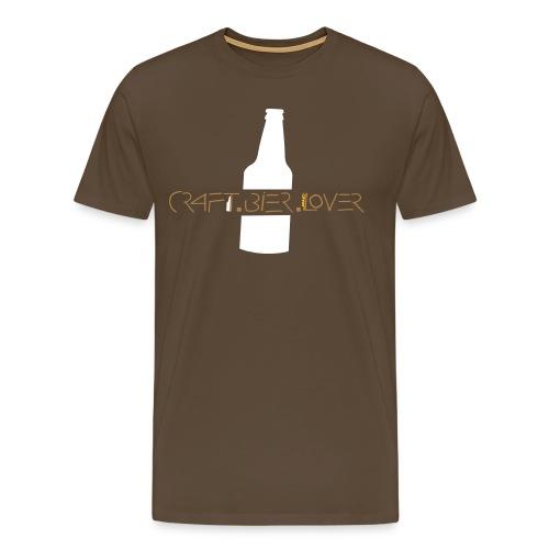 T-Shirt craft.bier.lover Bottle - Männer Premium T-Shirt