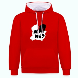 no worldwar 3 Pullover & Hoodies - Contrast Colour Hoodie