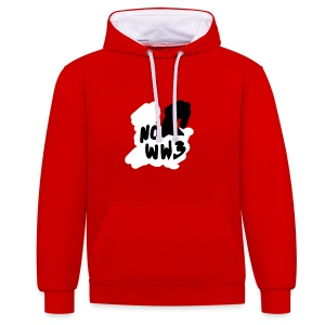 no worldwar 3 Pullover & Hoodies - Kontrast-Hoodie
