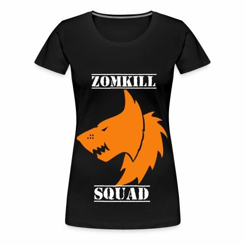 Orange Survival Wolf Pack Womens T-Shirt - Black   - Women's Premium T-Shirt