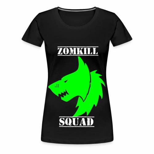 Green Survival Wolf Pack Womens T-Shirt - Black   - Women's Premium T-Shirt