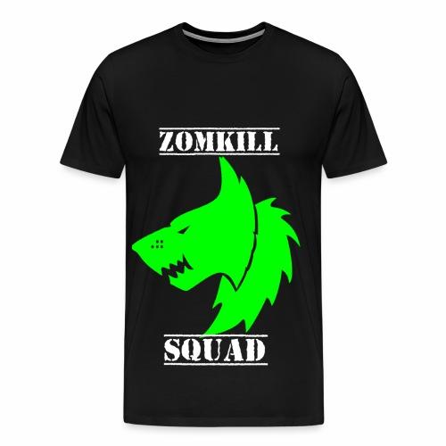 Green Survival Wolf Pack Mens T-Shirt - Black   - Men's Premium T-Shirt