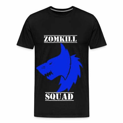 Blue Survival Wolf Pack Mens T-Shirt - Black   - Men's Premium T-Shirt