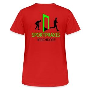 Sportpraxis - Damen - T-Shirt orange - Frauen T-Shirt atmungsaktiv