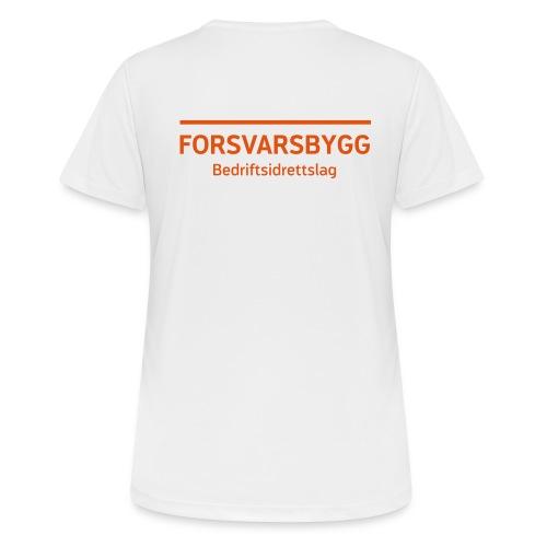 Standard trenings T-shirt for kvinner (hvit) - Pustende T-skjorte for kvinner