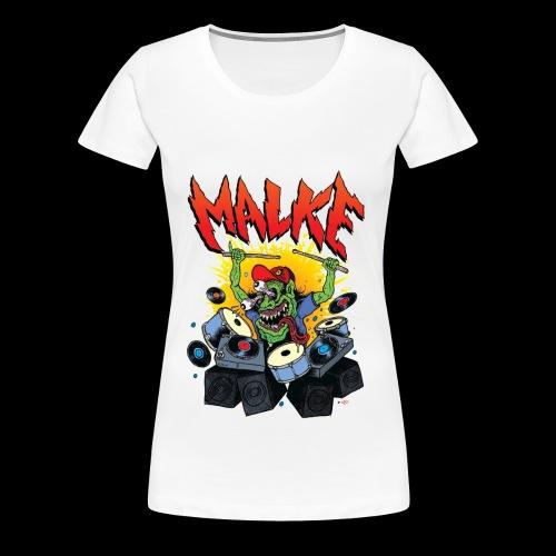Malke - Monster - White - Camiseta premium mujer