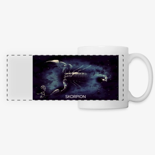 Panorama Tasse Skorpion (Farbe wählbar) - Panoramatasse