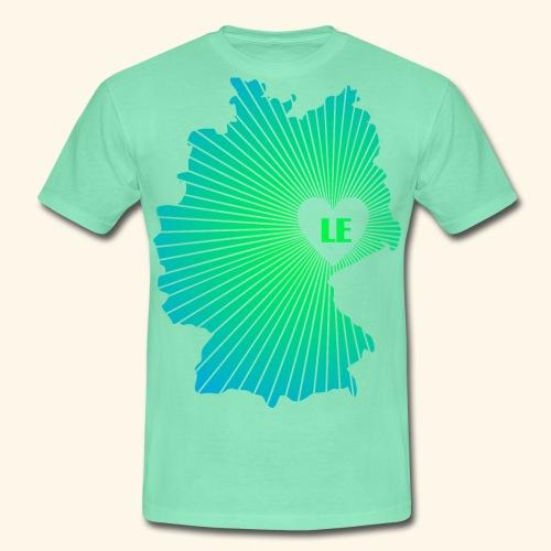 Ein Herz für Leipzig - Männer T-Shirt