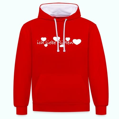 ich liebe flirten  Pullover & Hoodies - Contrast Colour Hoodie